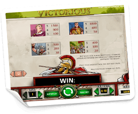 Victorious-paytable