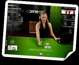 live casino på comeon