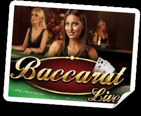Spela live baccarat online