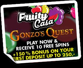 fruity casa casino välkomstbonus