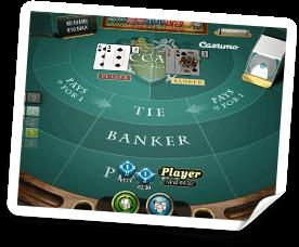 Casumos egna live casino bord för Baccarat