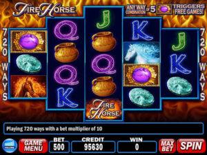 Fire horse spelautomat