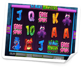 free spins so many monsters