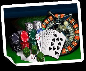 bordsspel i ett casino