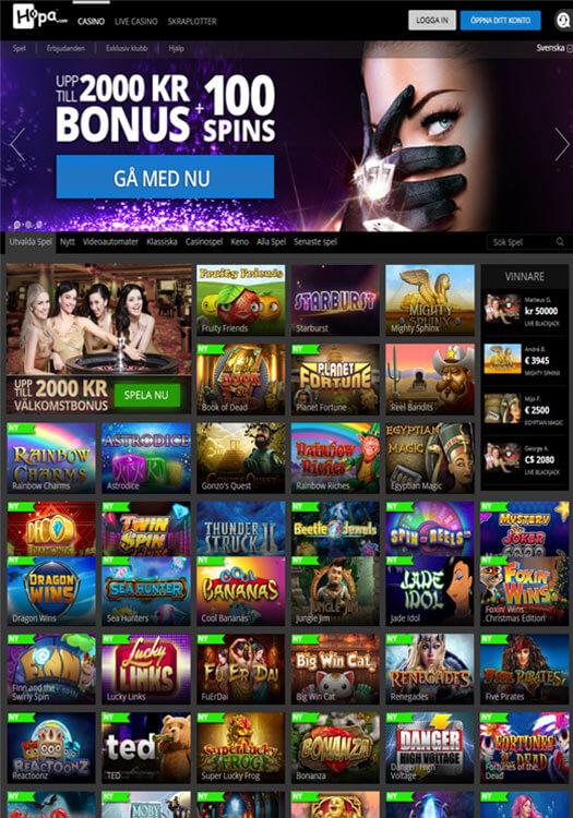 Hopa casino bakgrundsbild