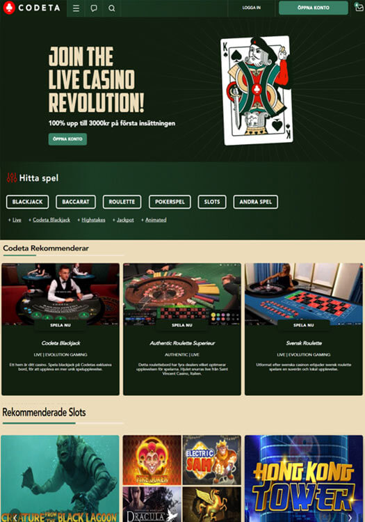 Codeta casino logga