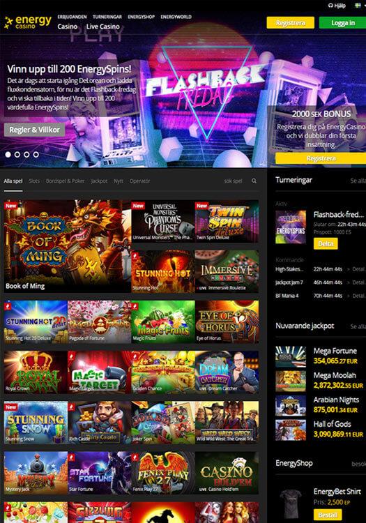 Energy Casino bakgrundsbild
