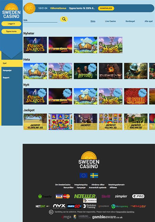 Sweden Casino bakgrundbild