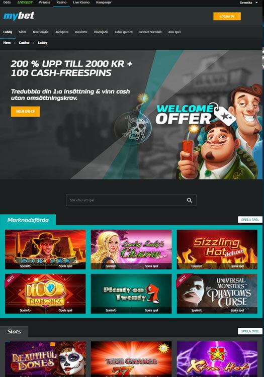 Mybet Casino Bonus