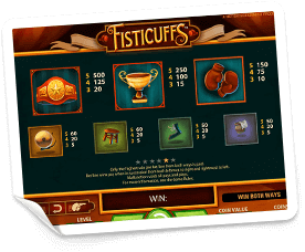Fisticuffs-paytable
