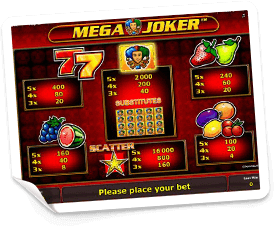 Mega-Joker-paytable