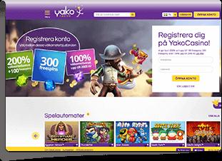 Yako Casino Skärmdump