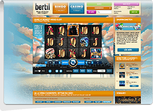 Bertil Casino Skärmdump