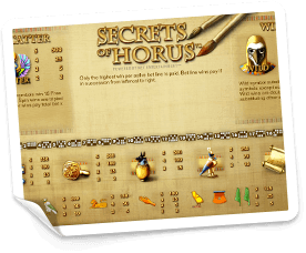 Secret-of-Horus-paytable