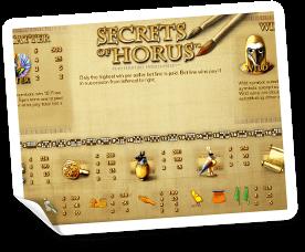 Secret-of-Horus-paytable