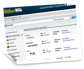 william hill instadebit