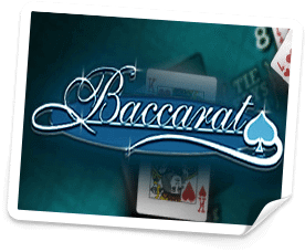 Bild på Baccarat spel online.