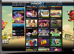 Diamond7Casino Skärmdump