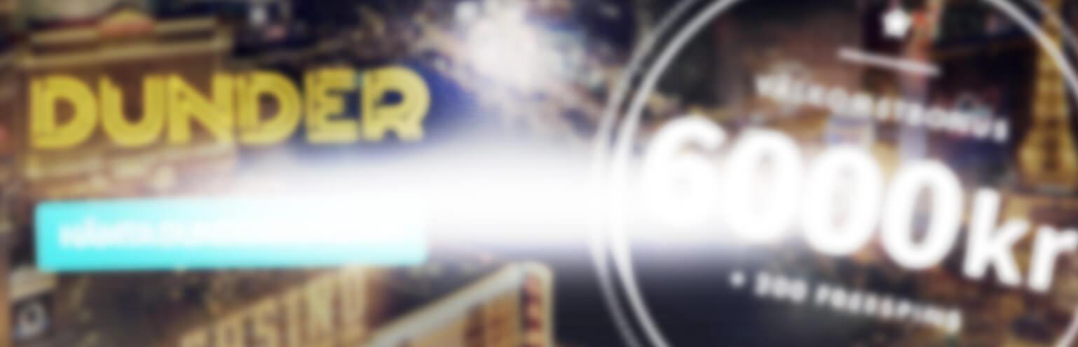 Dunder Casinos dunderjul bakgrundsbild