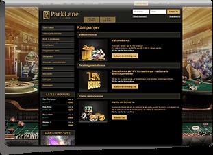 Parklane Casino Skärmdump