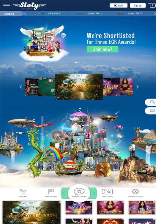 Sloty Casino bakgrundsbild