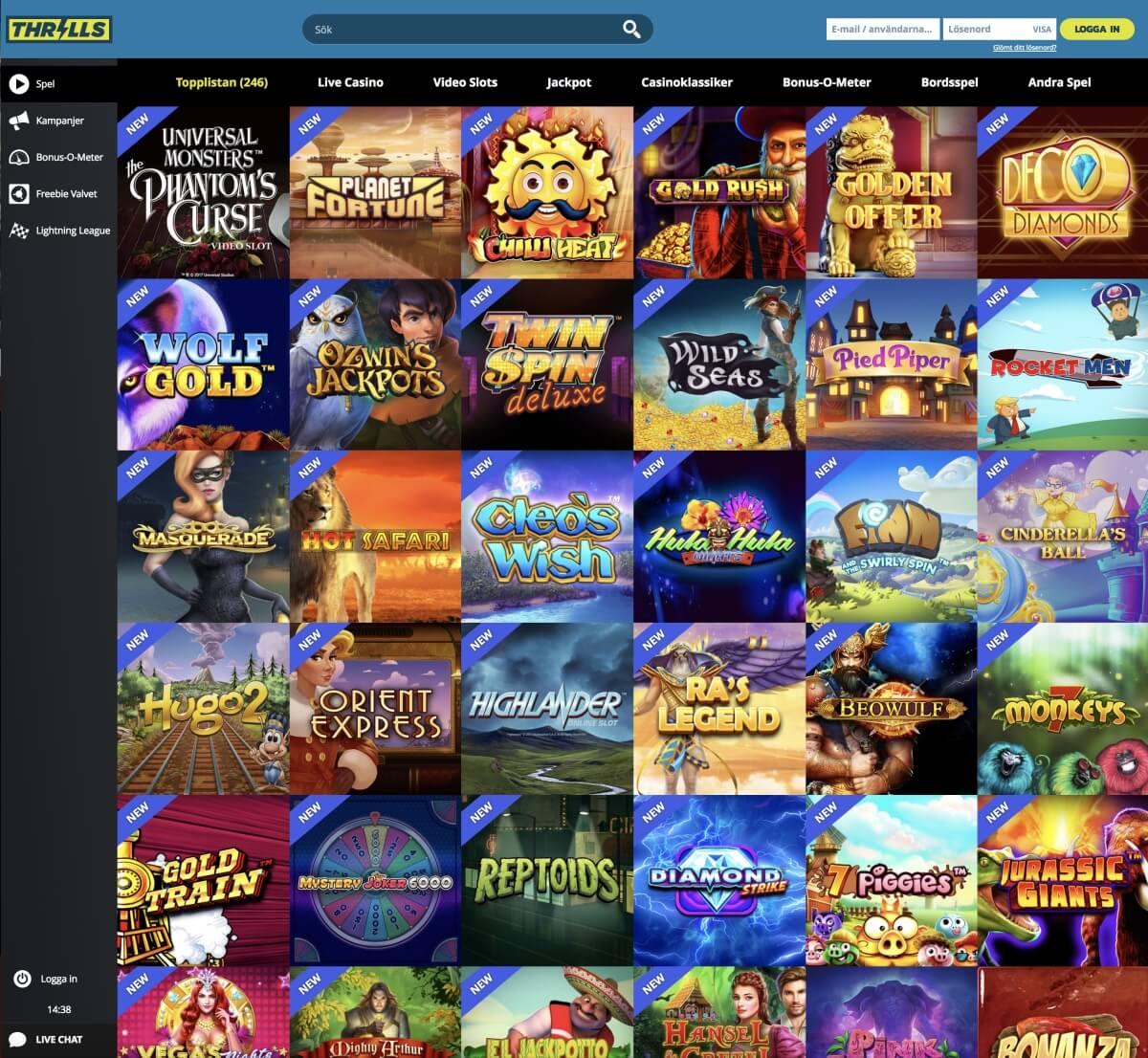Thrills Casino – Framröstat till årets casino!