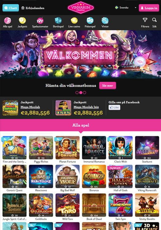 Vinnarum casinobakgrund