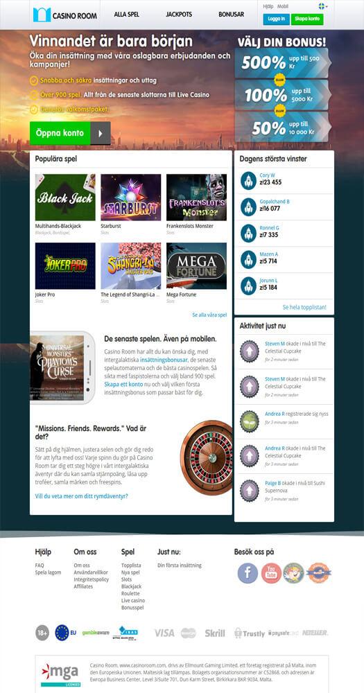 casinoroom bakgrundsbild