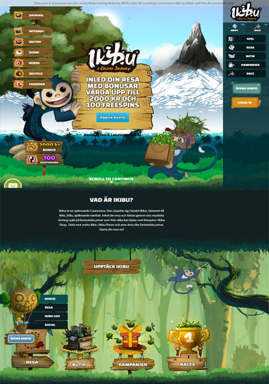Ikibu Casino - 1000 kronor bonus och 25 free spins